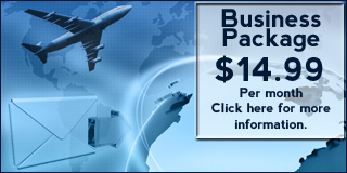 Call 1-888-863-3033 for more information about our Business Hosting Package.